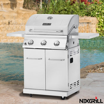 Nexgrill 3 Burner Stainless Steel Gas Barbecue + Cover