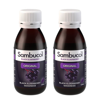 Sambucol Original Black Elderberry Liquid, 2 x 120ml