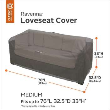 Classic Accessories Ravenna Medium Patio Sofa Loveseat Cover
