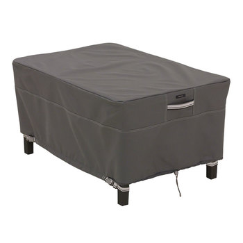 Classic Accessories Ravenna Rectangular Small Patio Ottoman/Side Table Cover