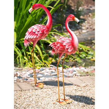 "Evergreen 35"" (89 cm) Bright Pink Flamingo Statue Pack of 2"