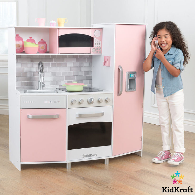 Kidkraft Large Play Kitchen In Pink 3 Years Costco Uk