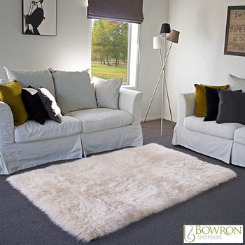 Bowron Sheepskin Area Rug 120 x 180cm in 5 Colours