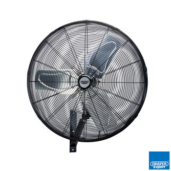Draper 24 Inch Industrial Wall Mounted Fan