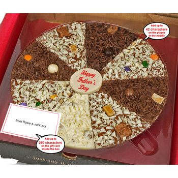 The Gourmet Chocolate Pizza Company - Personalised Delicious Dilemma Pizza, 10 Inches