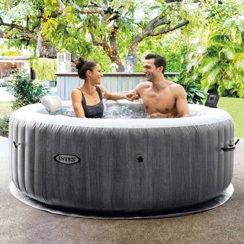 Intex PureSpa Greywood Deluxe Inflatable 4 Person Spa - Delivered