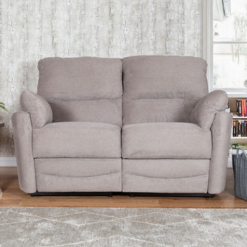 Minster 2 Seater Fabric Power Recliner Sofa in Rich Mink