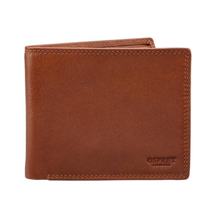 3e0cea1700aaf Osprey London Hornbeam Billfold Leather Wallet in Tan