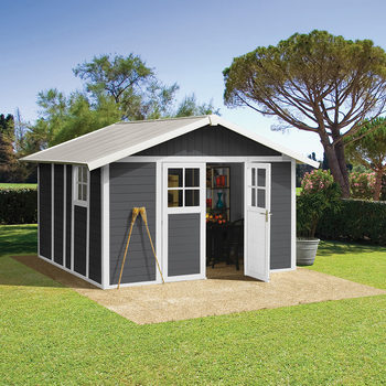 "Grosfillex Deco 10ft 2"" x 11ft 5"" (3.1 x 3.5 m) Shed in 4 Colours - Model Deco 11"