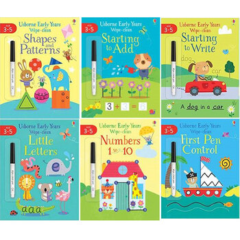 Early Years Wipe Clean  6 Book Set, 3-5 Years