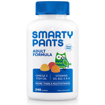 SmartyPants Adult Formula Multivitamin Gummies, 240 Tablets