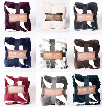 Ultimate Sherpa Throw in 9 Colours, 152 x 177 cm