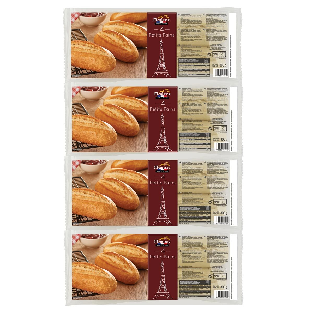 Menissez Petits Pains 4 X 4 Pack 4 X 300g Costco Uk