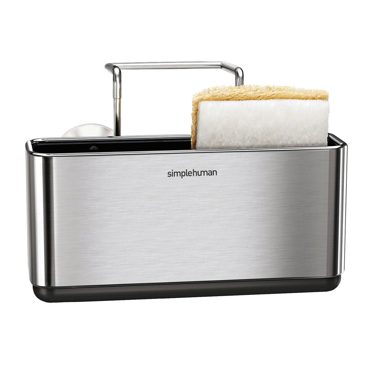simplehuman brushed stainless steel slim sink caddy costco uk