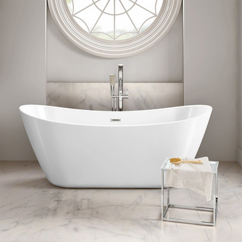 Platinum Spas Montpellier Freestanding Modern Bath, 1700 x 850 x 600mm