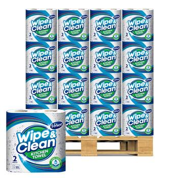 Velvet Wipe and Clean Kitchen Roll Towel, 20 x 75 Sheets Pallet Deal (36 Units)