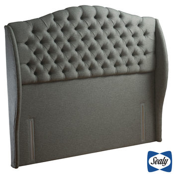 Sealy Richmond Pebble Grey Fabric Full Height Headboard in 3 Sizes