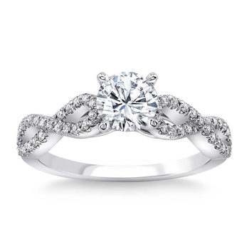 0.93ctw Round Brilliant Cut Diamond Ring, Platinum
