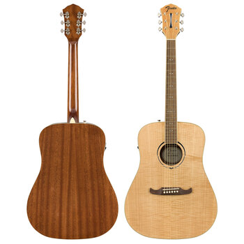 Fender FA-225E Full Size Acoustic Guitar in Natural