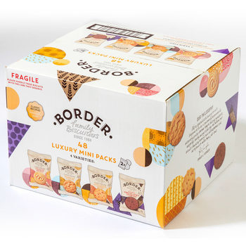 Border Biscuits Luxury Mini Pack Assortment,  48 x 2 Biscuits