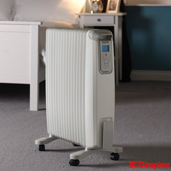 Dimplex 2kW EvoRad Bluetooth Controlled Oil Free Radiator White in White, EVORAD2BT