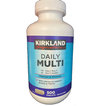 Kirkland Signature Daily Multi Vitamins & Minerals, 500 Tablets