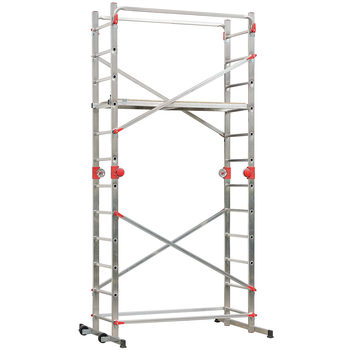Hailo 1-2-3 500 Combi Speed Lock Multifunction Aluminium Scaffold, Ladder and Platform System
