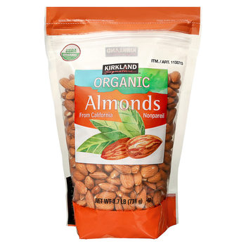 Kirkland Signature Organic Whole Almonds, 771g