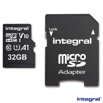 Integral 32GB Micro SD Card, MicroSDHC UHS-1 U3 CL10 V10 A1