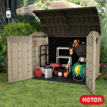 "Keter Woodland XXL 5ft 8"" x 3ft 7""  (1.7 x 1.1m) Horizontal Storage Shed"