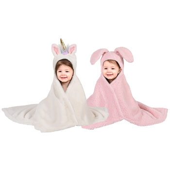 Children's Hooded Blanket & Plush in 3 Designs