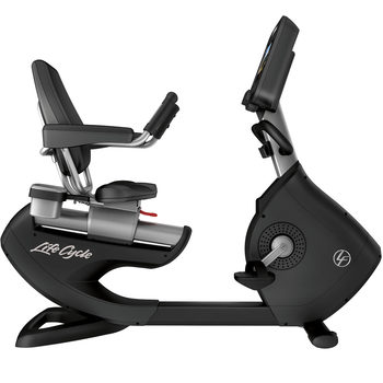 Installed Life Fitness Commercial Grade Elevation Series Recumbent Bike with Discover ST Console