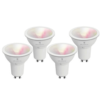 4lite WiZ Connected GU10 Colour Smart Bulbs, 4 Pack