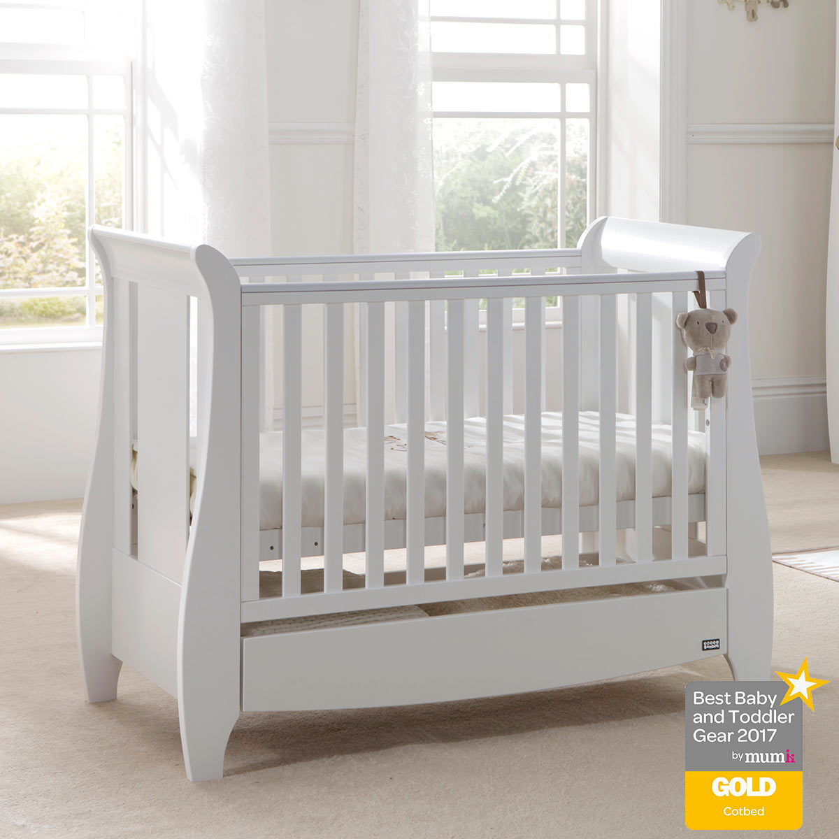 Tutti Bambini Katie Cot Bed In White With Sprung Mattress Costco Uk