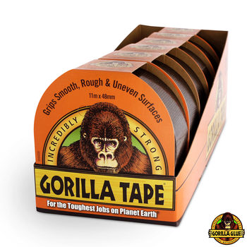 Gorilla Glue Super Strong Black Tape 11m x 48mm - 6 Pack