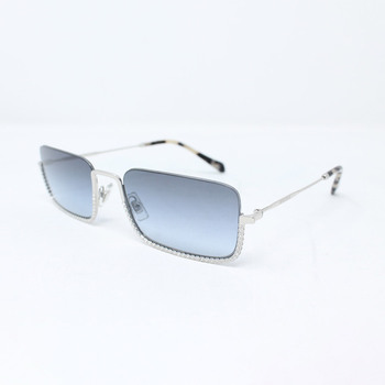 Miu Miu Silver Sunglasses with Grey Lenses, MU70US 1BC-4R2
