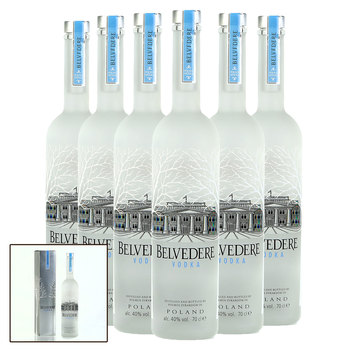 Belvedere Pure Vodka, 6 x 70cl with Gift Boxes