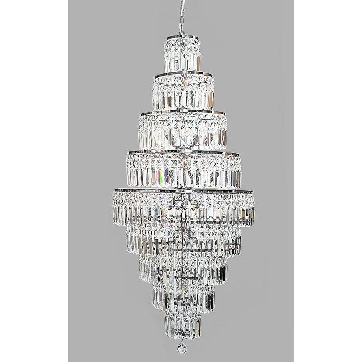 new styles b88b2 2d0ca Swarovski Crystal Empire 13 Light Chandelier in Chrome | Costco UK