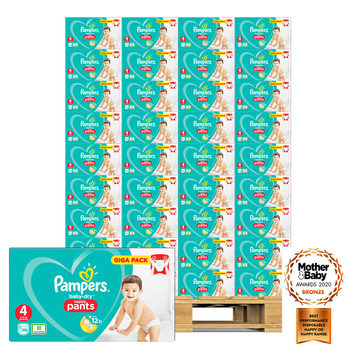 Pampers Baby-Dry Nappy Pants Size 4, 48 x 108 Giga Packs