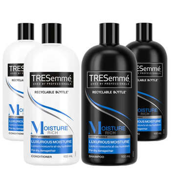 Tresemme Shampoo and Conditioner, 4 x 900ml
