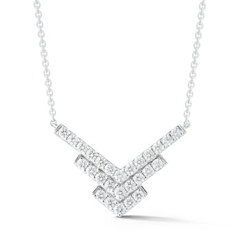 0.51ctw Round Brilliant Cut Diamond Necklace, 18ct White Gold