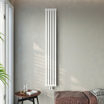 Lifrestyle image of Linear radiator in living room setting
