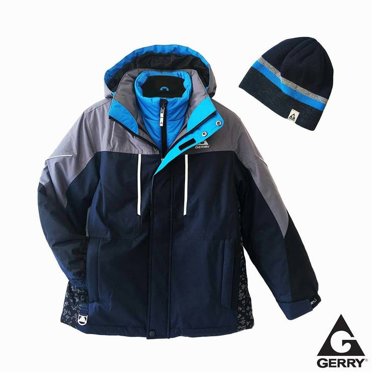 34220bc38fd7 Gerry Boy s 3 in 1 Jacket in Navy and Blue