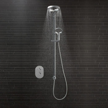 Methven Aurajet Aio Shower System with Concealed Shower Valve - Model AOSSCVCPUK