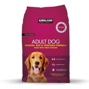 Kirkland Signature Super Premium Adult Complete Dog Food, Chicken, Rice & Vegetable Formula, 12kg