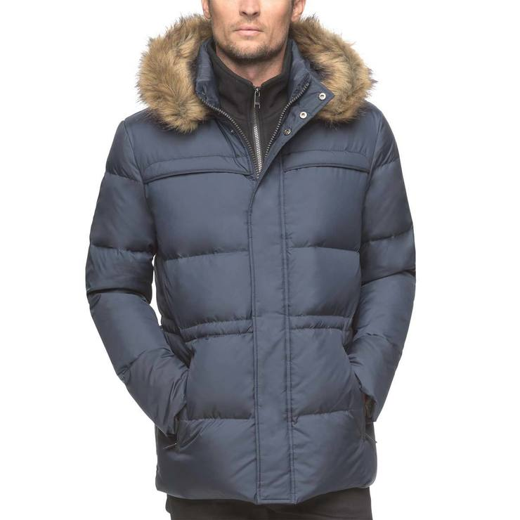 Marc New York Mens Quilted Jacket In Ink Blue Medium Costco Uk