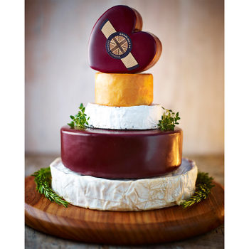 5-Tier Godminster Organic Cheese Celebration Cake, 2.6kg Minimum Weight (Serves 20-35 People)