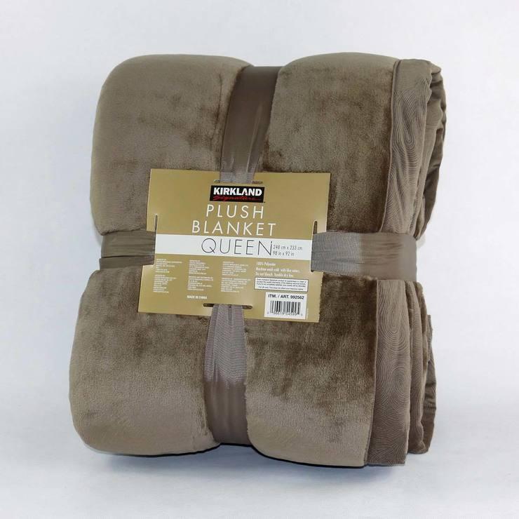 Kirkland Signature Plush Blanket In Sorrell Costco UK Fascinating Soft Throw Blanket Costco