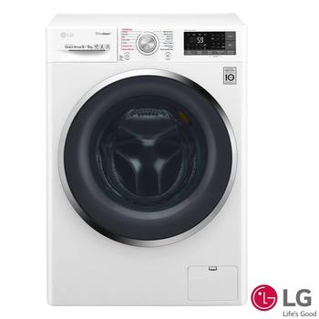 LG 9kg / 6kg Eco Hybrid Washer Dryer F4J8FH2W, A Rating