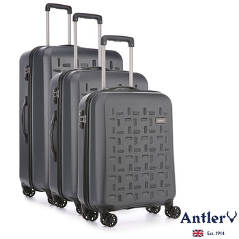 Antler Richmond 3 Piece Hardside Suitcase Set in Charcoal